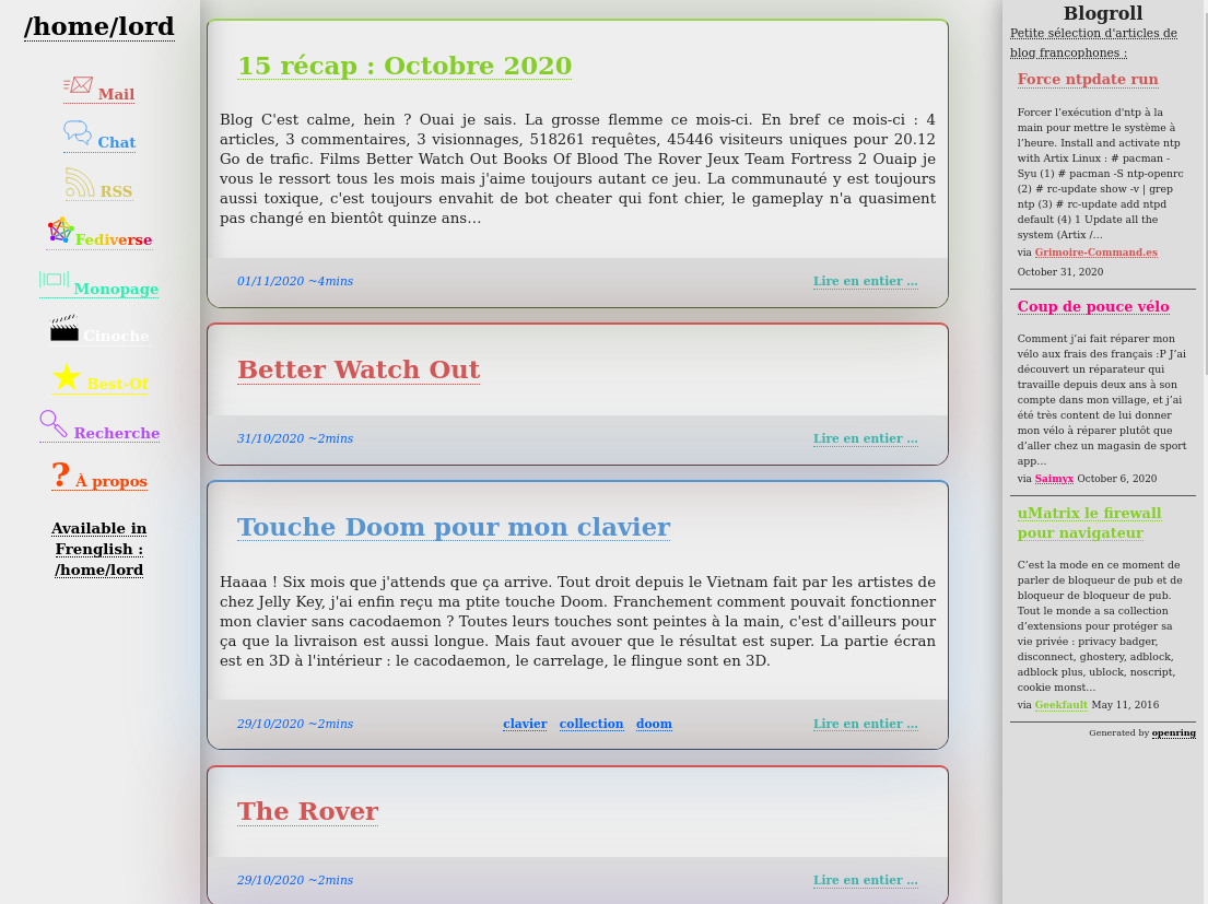 capture d'écran de la version claire du thême