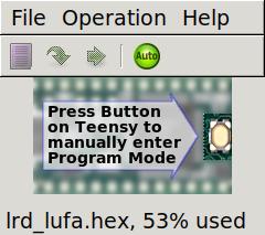 capture d'écran de la popup d'upload du binaire