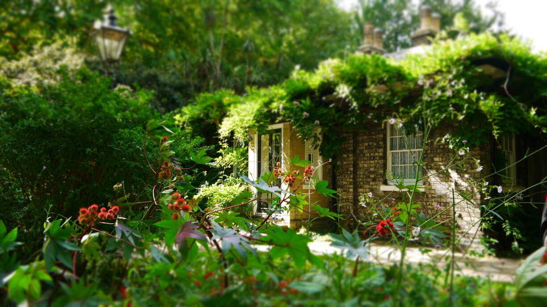 Un ptit cottage au beau milieu de la nature d'un parc