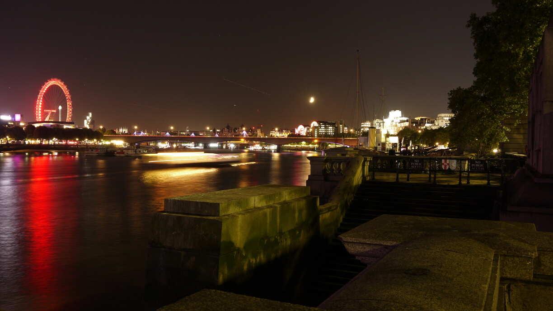 vue de nuit de la rive sud