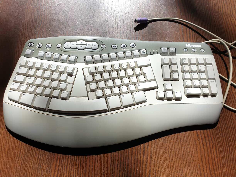 Un clavier scindé en deux de chez Microsoft il y a vingt ans