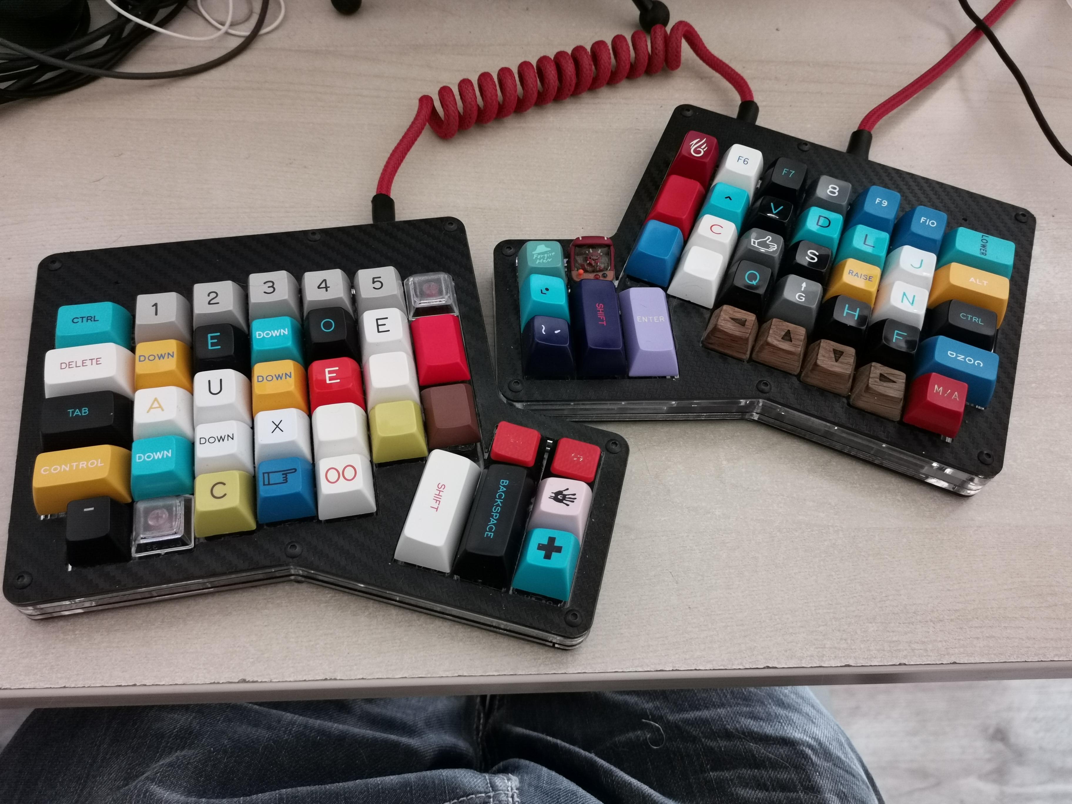 Le lavier avec tous ses nouveaux keycaps