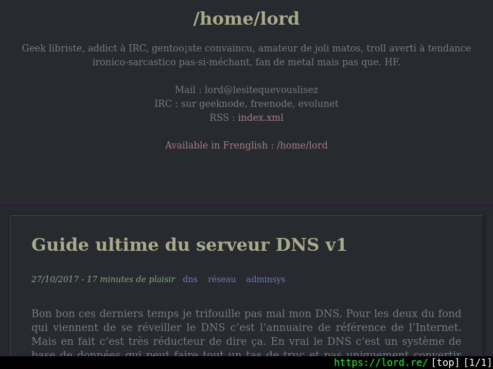 capture d'écran de l'interface de qutebrowser