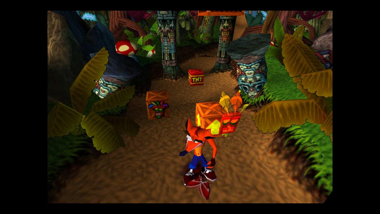 capture d'écran de Crash Bandicoot avec des graphismes améliorés