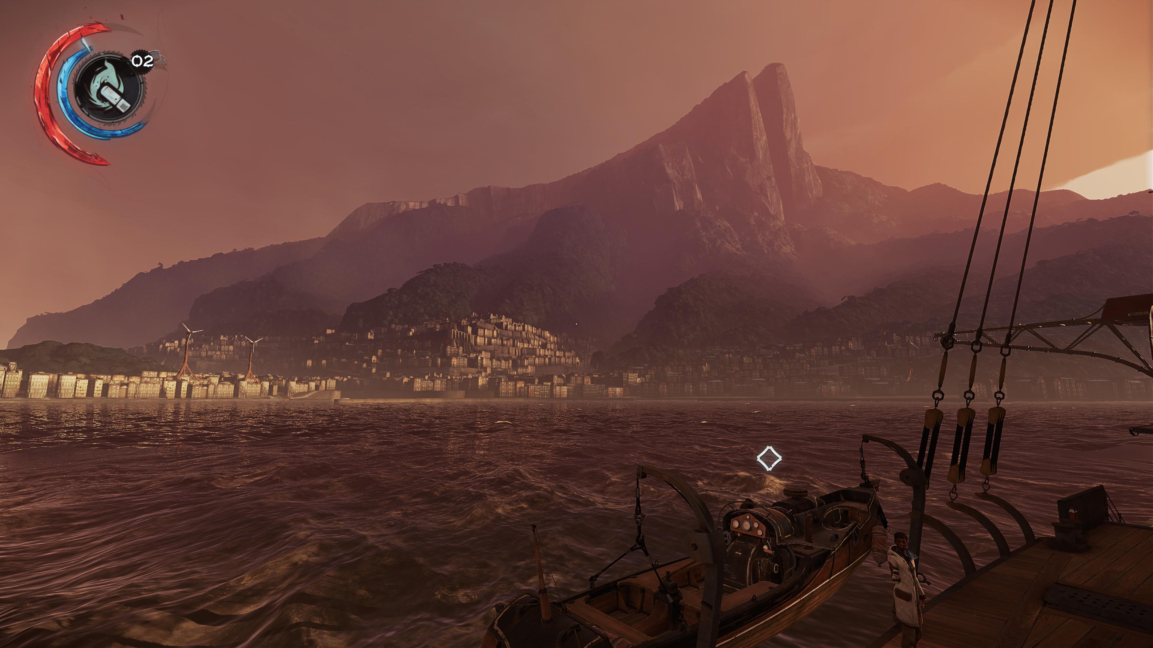 Capture d'écran depuis le bateau du jeu
