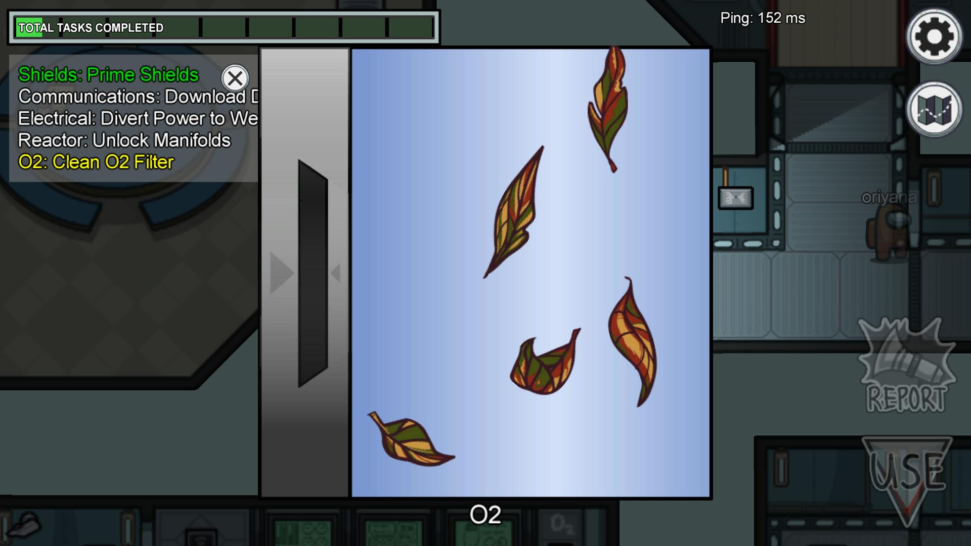 Ici les joueurs doivent glisser les feuilles dans la trappe afin de nettoyer le conduit d'air