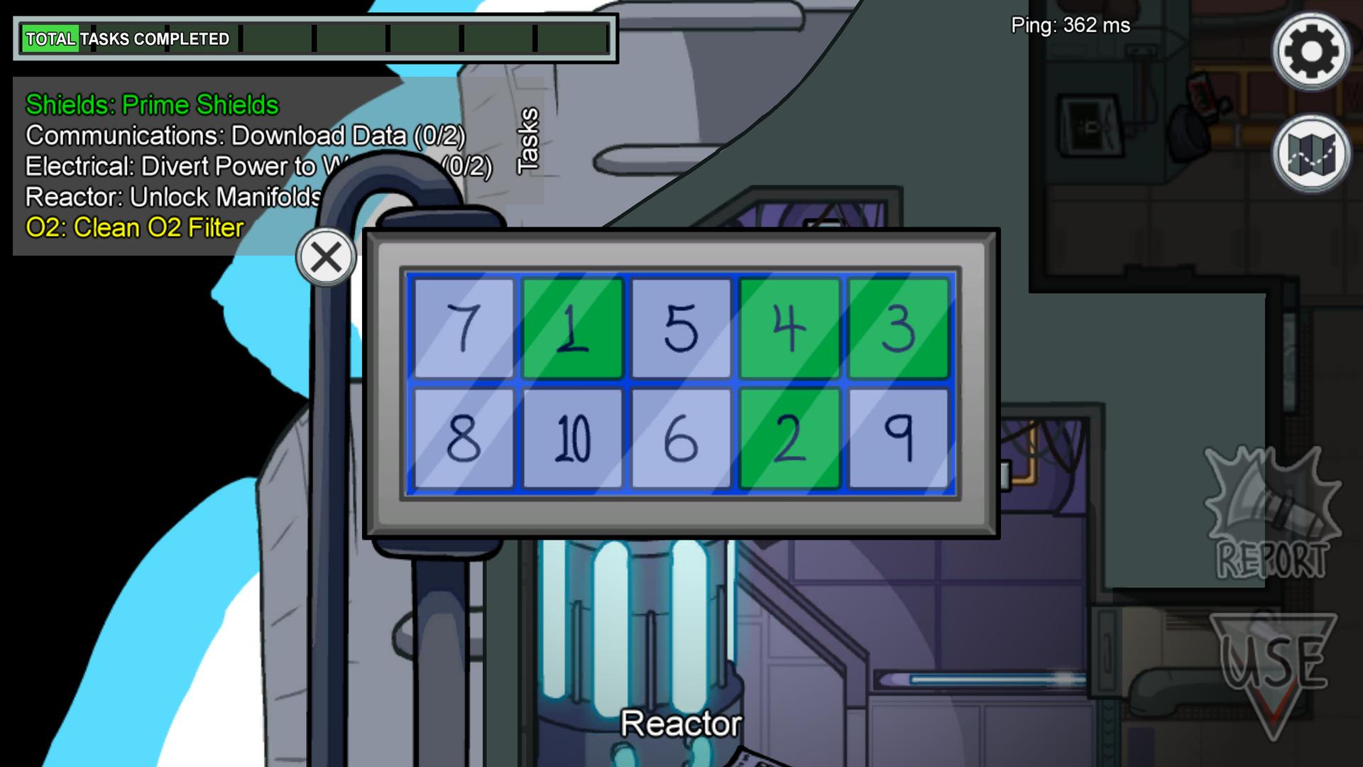 Le joueur se voit présenter les dix chiffres à cliquer dans l'ordre croissant